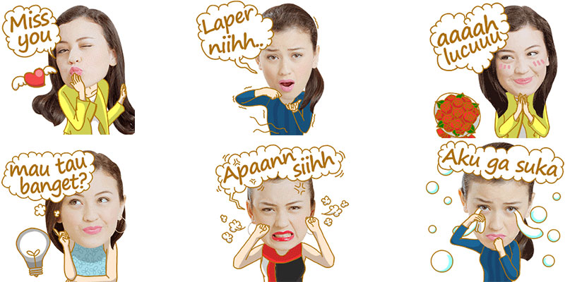 sticker kimberly rider hadir di wechat