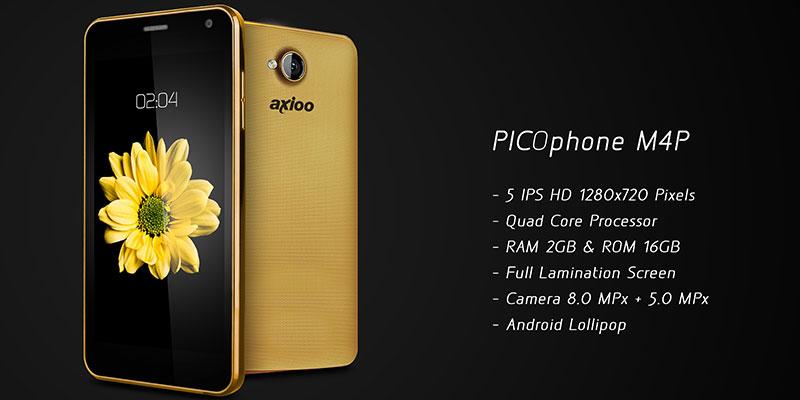axioo picophone m4p smartphone flagship lokal dengan android lollipop 5 1
