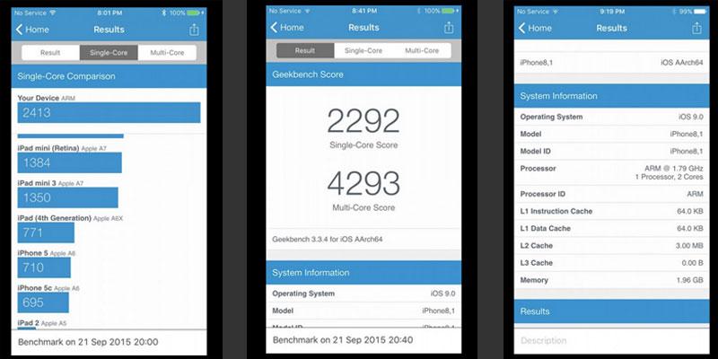 benchmark iphone 6s