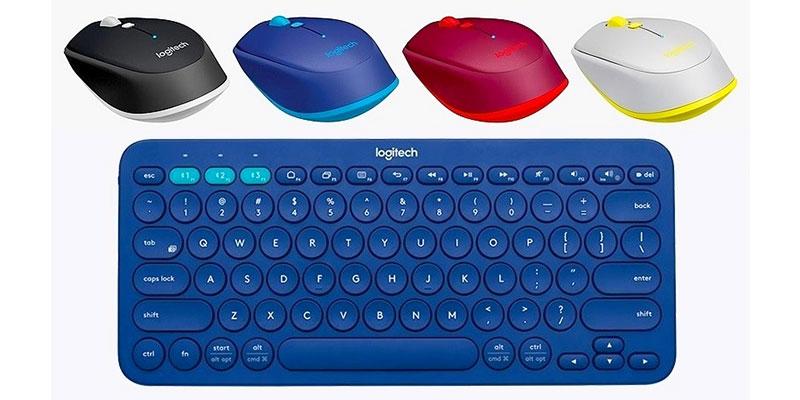 logitech perkenalkan keyboard dan mouse bluetooth dengan warna ceria