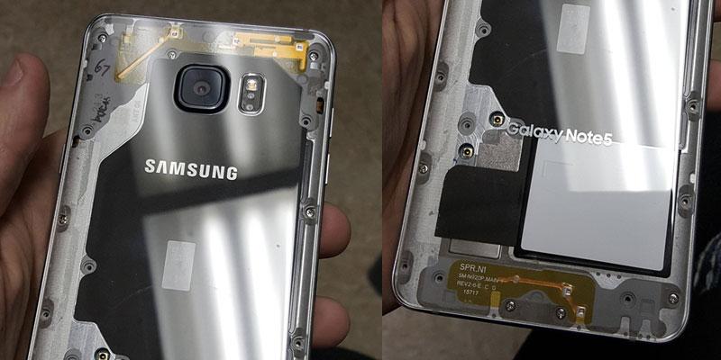 Intip Jeroan Samsung Galaxy Note5 Dengan Casing Transparan