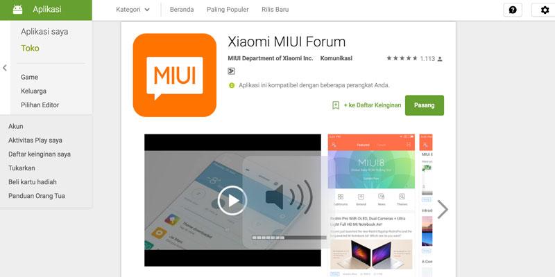Xiaomi Rilis Aplikasi Miui Forum Di Google Play