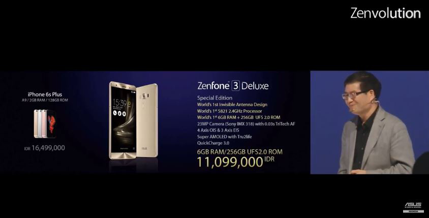Harga Zenfone 3 Deluxe SE
