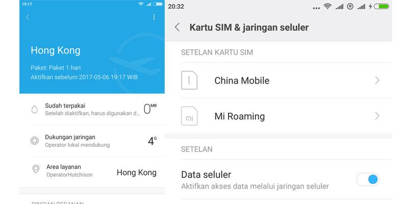 mi roaming
