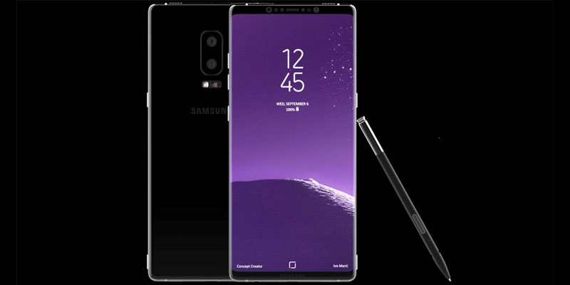 Seeing the Galaxy Note 8 Design Design Concept Creator