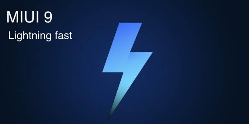 MIUI 9 Logo Lightning Fast