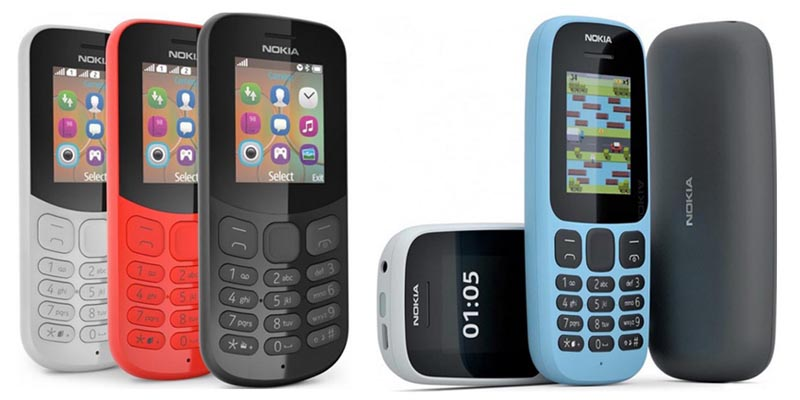 Nokia 105 dan Nokia 130