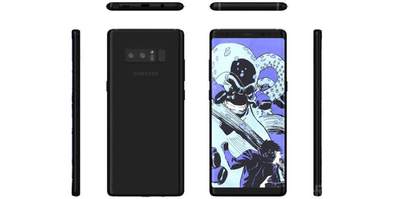 Dual-camera Samsung Galaxy Note 8 Equipped with a 3x Optical Zoom