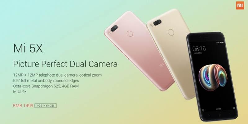 Xiaomi Mi 5X Price