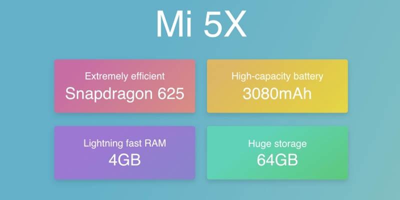 Xiaomi Mi 5X Spec