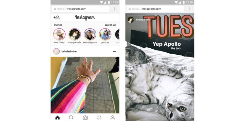 Fitur Stories Instagram Mobile Web
