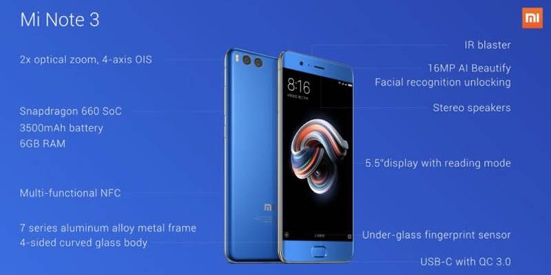 Xiaomi Mi Note 3 Full Spec