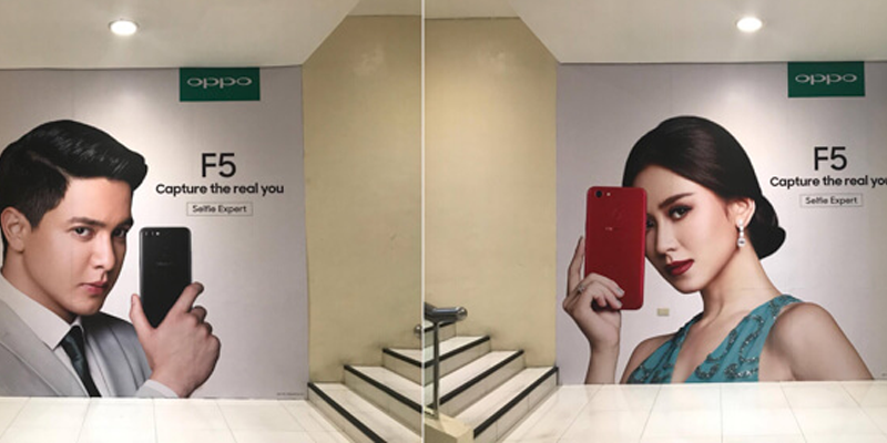 F5 Oppo Present Poster at One Mall Philippines