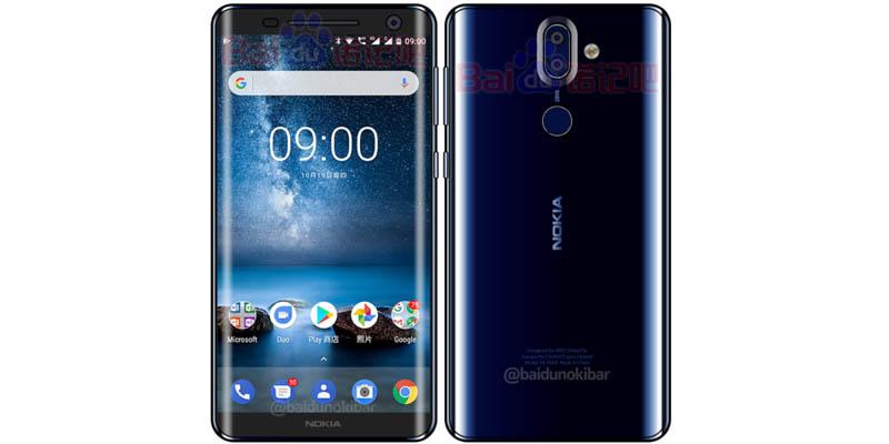 Nokia 9 Leak Lengkung
