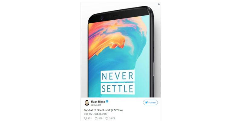OnePlus 5T Evan