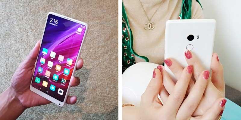 Xiaomi Mi MIX 2 Keramik Putih Depan Belakang