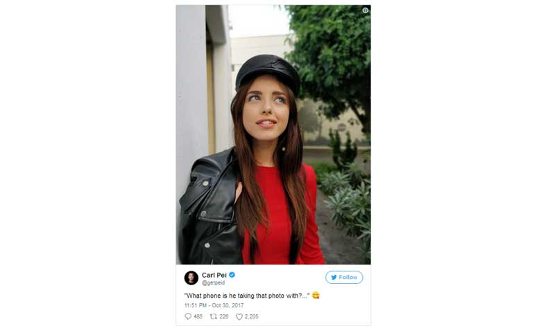 OnePlus 5T Tweet Camera Smaple