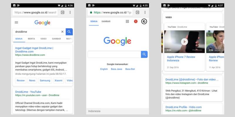 UI Google Search