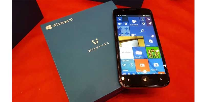 WileyFox Pro Windows 10 ok