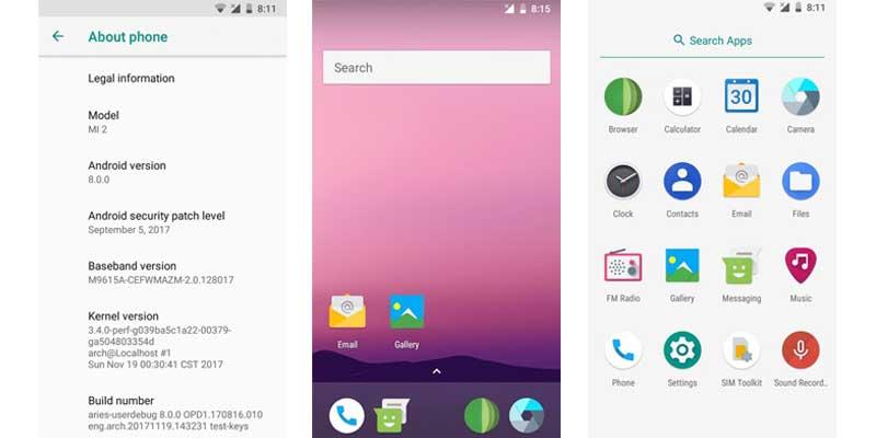Xiaomi Mi 2 Android Oreo