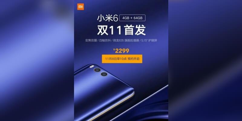 Xiaomi Mi 6 4 GB 2