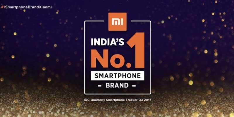 Xiaomi Peringkat 1 India Header