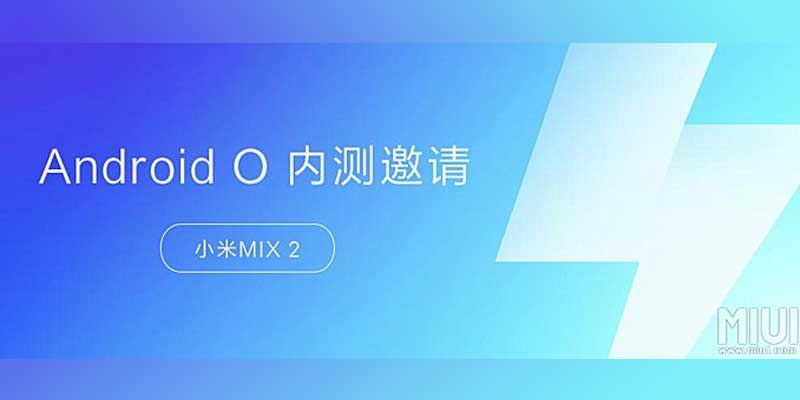 Android 8 Oreo Xiaomi Mi Mix 2