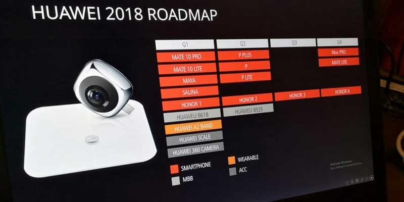 Huawei 2018 Roadmap Huawei P20