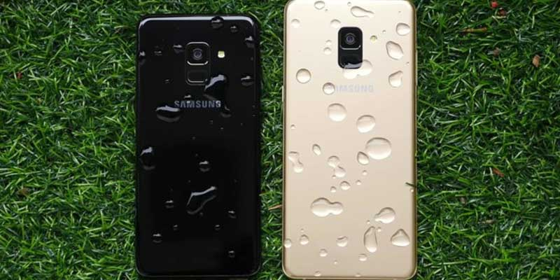 Samsung Galaxy A8 dan A8 Plus Back Water