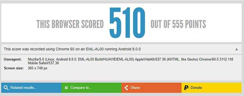 Huawei P20 Browser