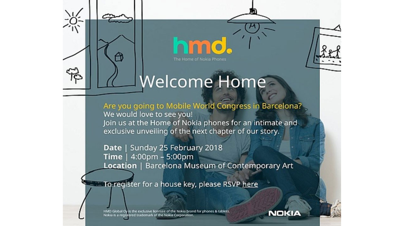 Invitation HMD Global at MWC 2018