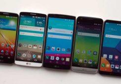 LG G series evolution 245x170