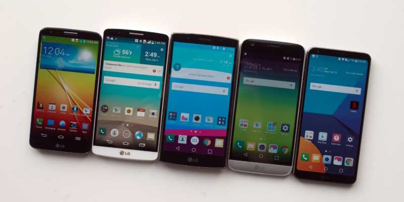 LG G series evolution