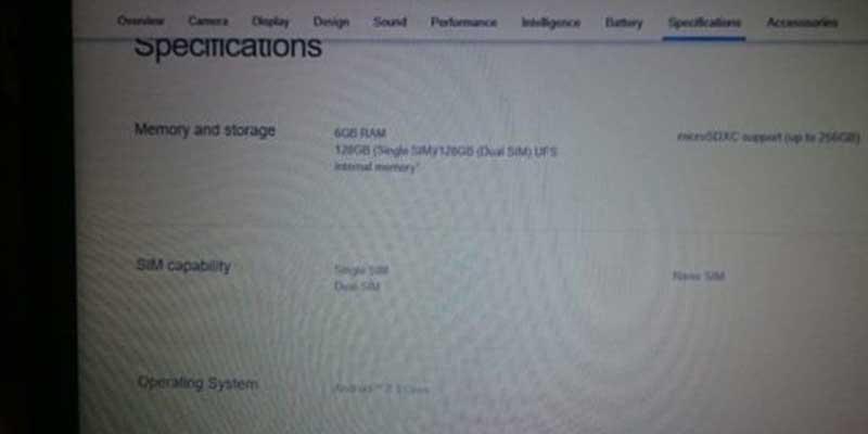 Sony Xperia XZ Pro Leak Spec