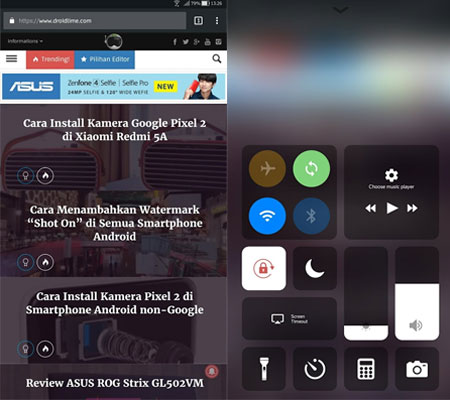 install control center ios di Android 2