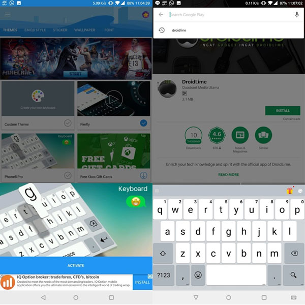 install keyboard iphone di android 2