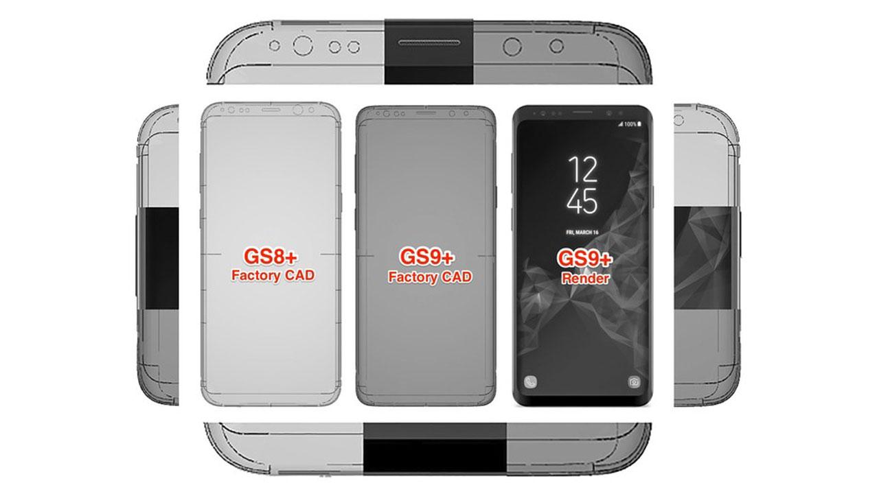 Gambar CAD Galaxy S9