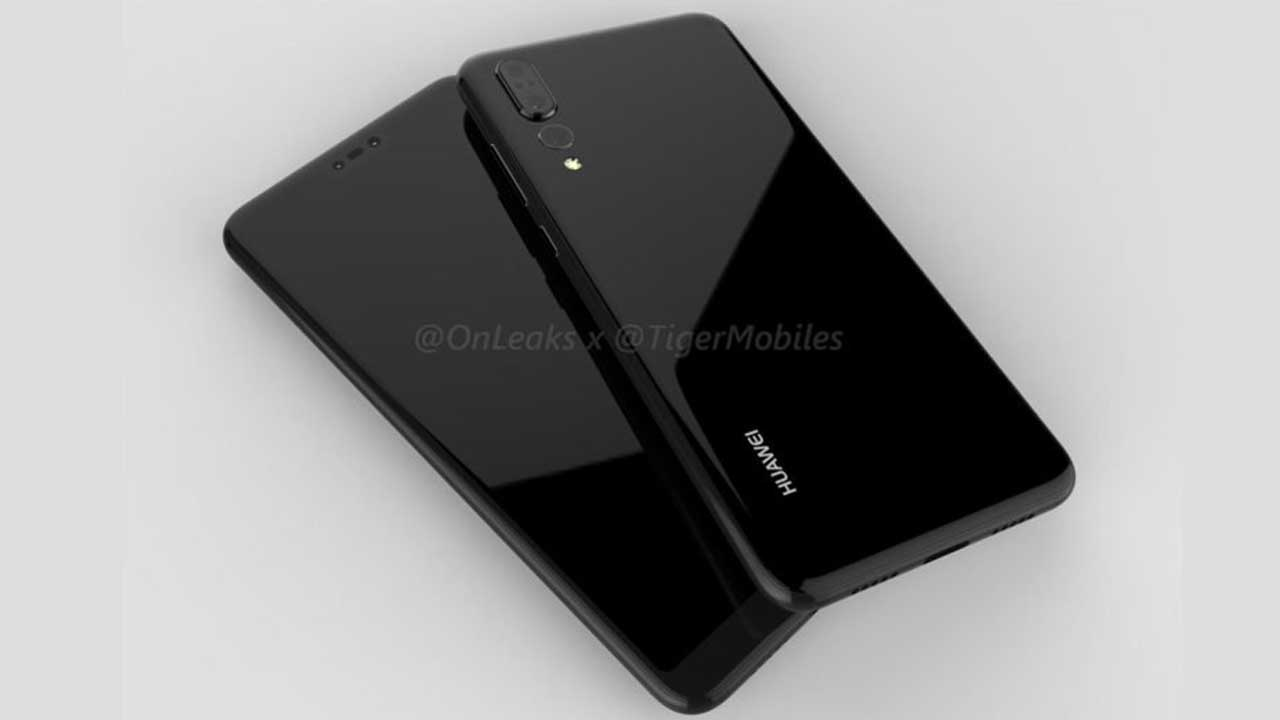 Huawei P20 Plus Leak Render 3D