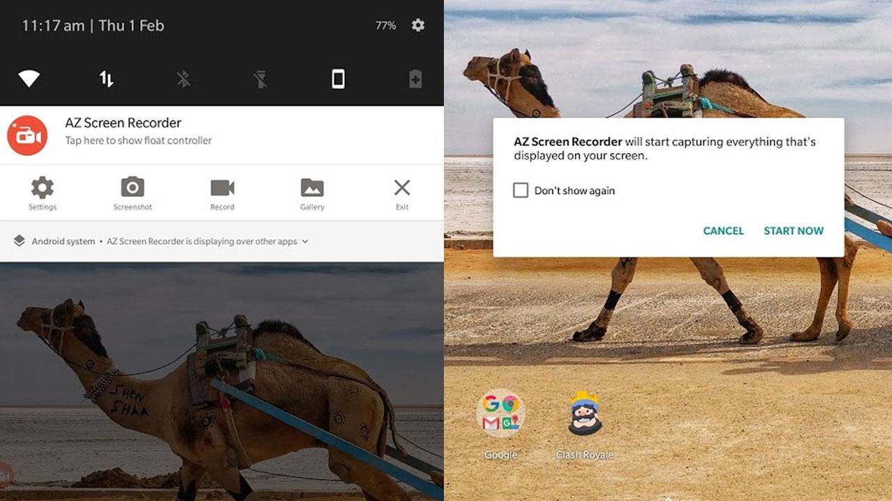 cara merekam layar di android 1