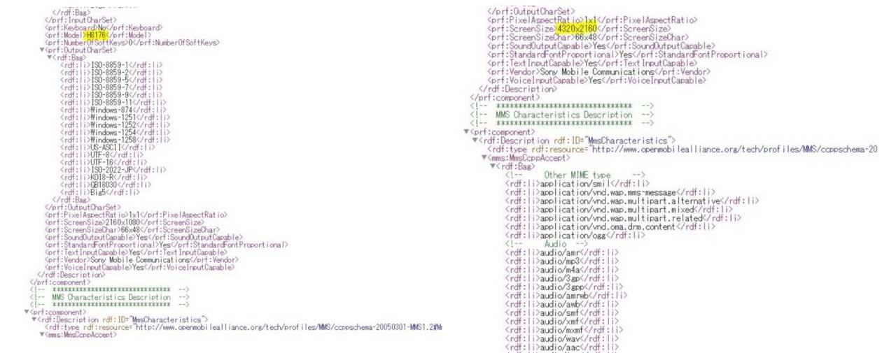 Xperia XZ2 Pro HTML