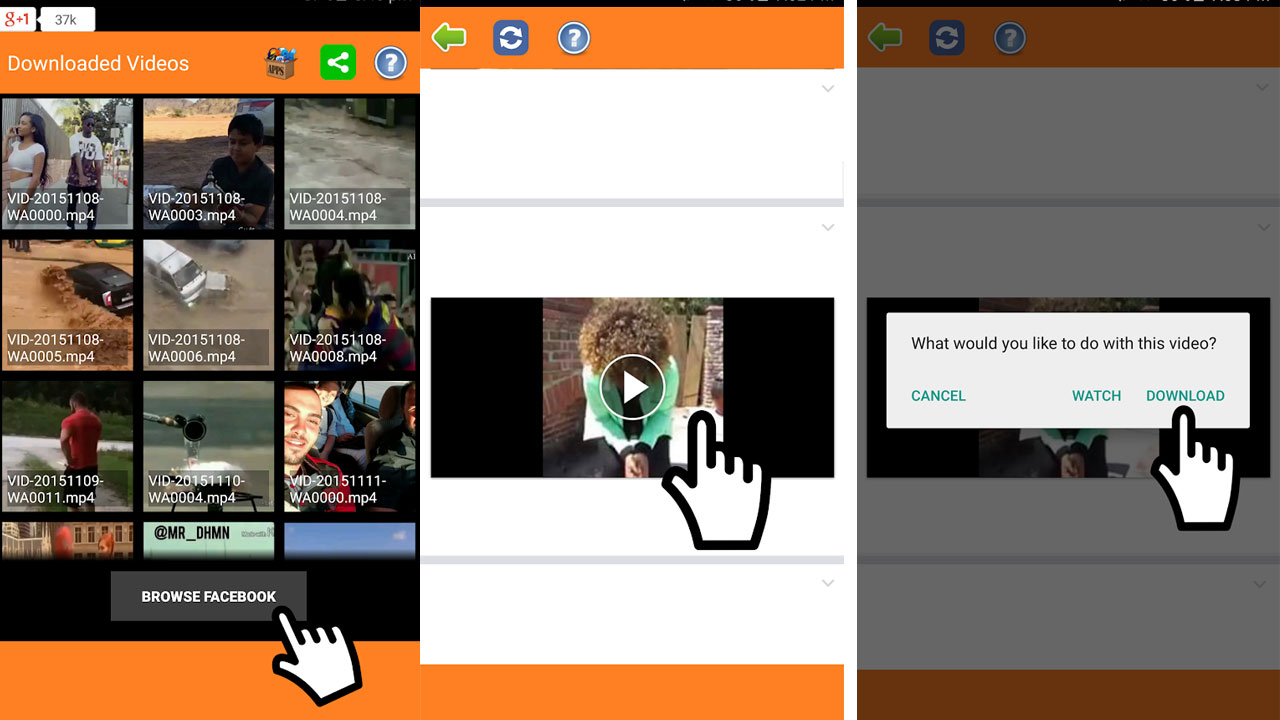 cara download video dari web android