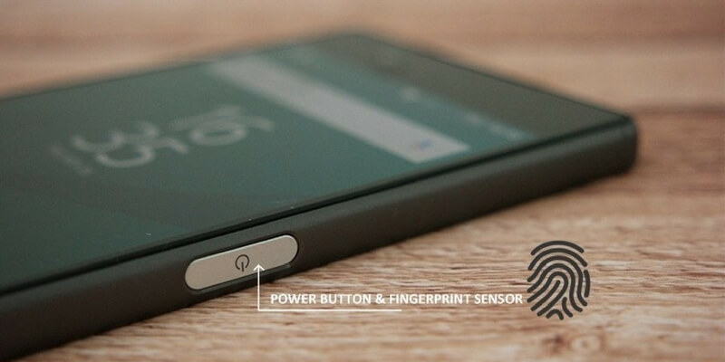 fingerprint samping tombol power