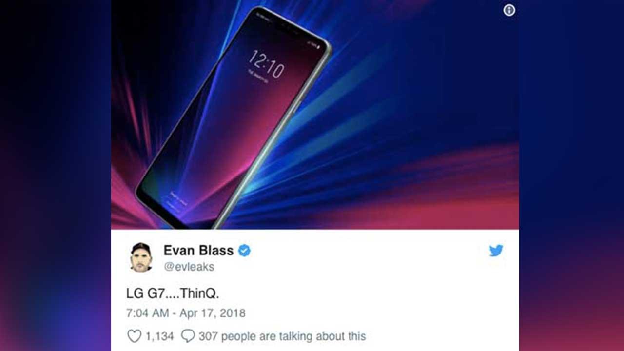 LG G7 ThinQ Twitter Evan