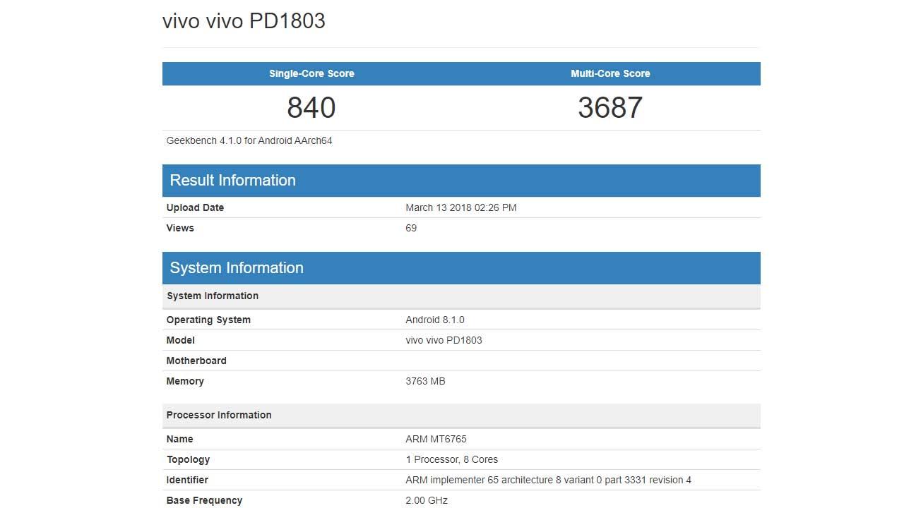 Vivo MT6765