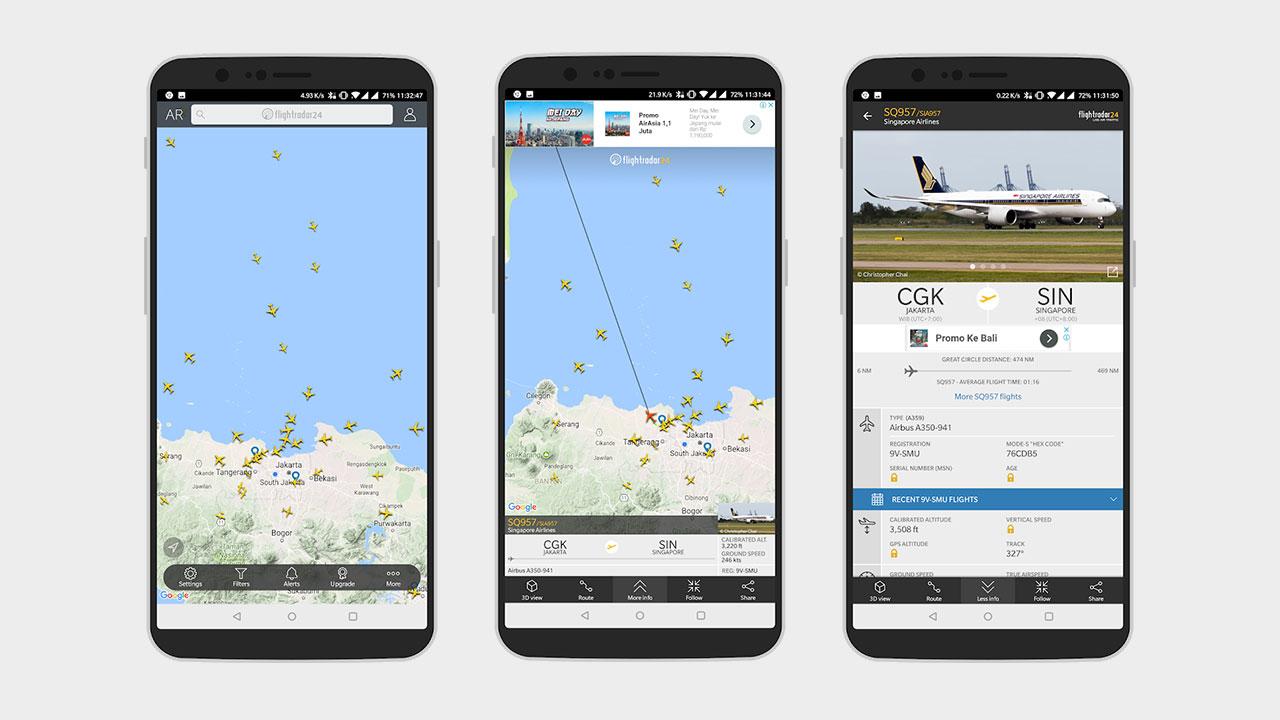 cara melacak lokasi pesawat 1