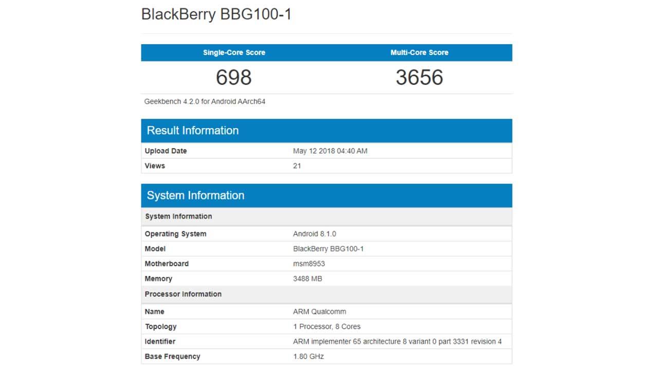 BlackBerry BBG100