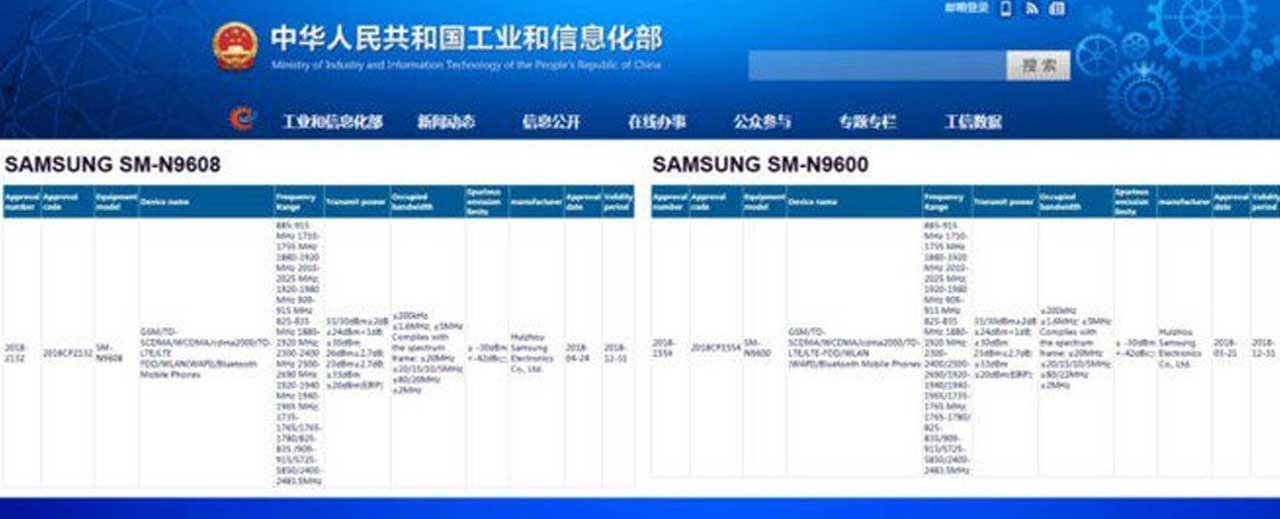 Samsung Galaxy Note 9 2 varian