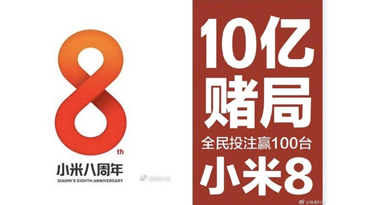 Xiaomi 8 Tahun