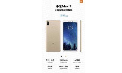 Xiaomi Mi MAX 3 Price 400x240