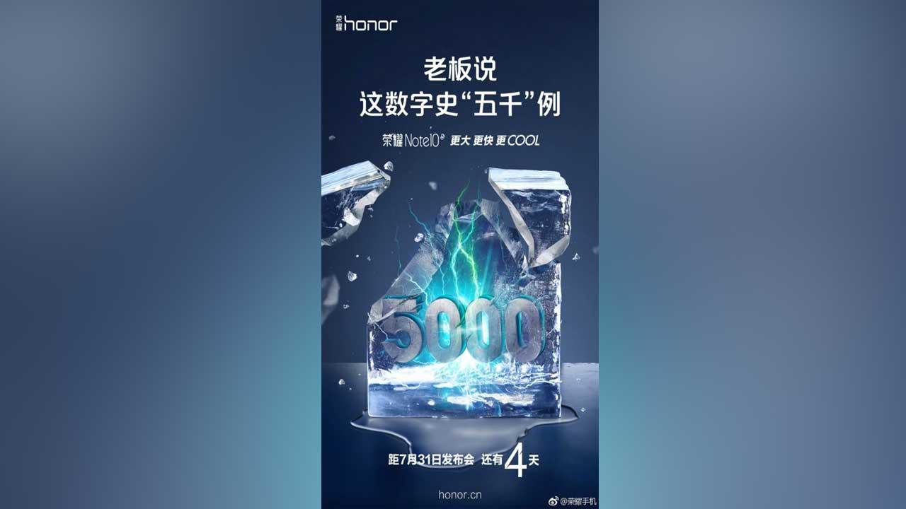 Honor Note 10 Baterai 5000 mAh